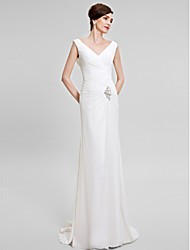 Trumpet/Mermaid Mother of the Bride Dress - Sweep/Brush Train Sleeveless Chiffon