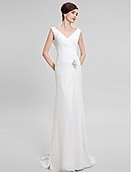 Trumpet/Mermaid Mother of the Bride Dress - Sweep/Brush Train Sleeveless Chiffon