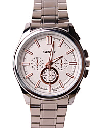 Men's Fashion Watch Water Resistant / Water Proof Casual Watch Quartz Alloy Band Silver
