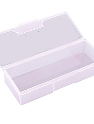 19cm Translucent Nail Tools Organization Storage Box
