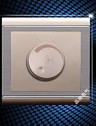 86 série interruptor de parede champagne aço inoxidável escovado controle de velocidade do ventilador alternar interruptor dimmer genuína