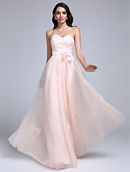 2017 TS Couture® Prom Formal Evening Dress A-line Sweetheart Floor-length Lace / Tulle with Lace