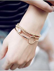 Fashionable Alloy 23.5cm Golden Strand Bracelets