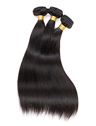 "3 Pcs/Lot 8""-30"" Virgin Malaysian Hair Weave Silky Straight 100G/Pc Black Permanent Human Hair Extensions"