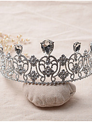 Women's Rhinestone / Alloy Headpiece-Wedding / Special Occasion Tiaras 1 Piece Clear Irregular