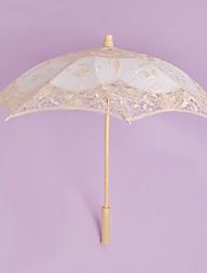 Mariage / Plage Dentelle Parapluie Poignée de post 50cm Bois 50cm