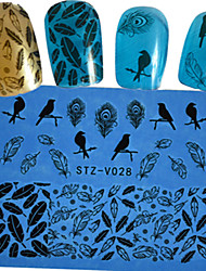 1 Autocollant d'art de clou Bouts  pour ongles entiers Autocollant dentelle Bijoux pour ongles Bande dessinée Fleur Adorable Mariage