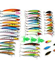 """45pcs pcs kleiner Fisch Zufällige Farben # g/5/16 Unze,# mm/2-1/4"""" Zoll,Fester Kunststoff Spinnfischen"""