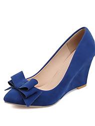 Damen-Loafers & Slip-Ons-Büro / Kleid / Lässig / Party & Festivität-Kunstleder-Keilabsatz-Komfort-Schwarz / Blau / Rosa / Burgund /