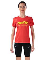 Camisa com Shorts para Ciclismo Mulheres Manga Curta Moto Respirável Redutor de Suor Camisa + Shorts Blusas Calças ElastanoPrimavera