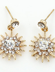 Crystal Rhinestone Alloy Fashion Geometric Gold Silver Jewelry Wedding Party Daily Casual Sports 1 pair