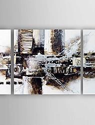 Ручная роспись Абстракция Modern,3 панели Холст Hang-роспись маслом