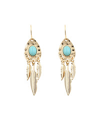 Drop Earrings Alloy Fashion Vintage Adorable Leaf Geometric Green Jewelry Party Daily Casual Sports 1 pair