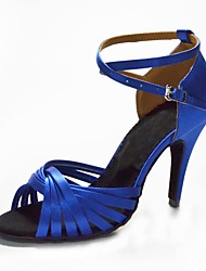 Customized Ankle Cross Strap  Silk With Criss-cross Strap Dance Performance Shoes Weave Style Salsa Tango Latin Sandals