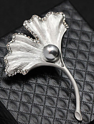 Women's Girls´ Brooches Crystal Fashion Wings / Feather Silver Golden Jewelry Wedding Party Daily