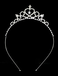 Femme Jeune bouquetière Strass Alliage Casque-Mariage Tiare Serre-tête 1 Pièce