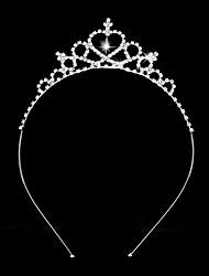 Women's / Flower Girl's Rhinestone / Alloy Headpiece-Wedding Tiaras / Headbands 1 Piece Silver