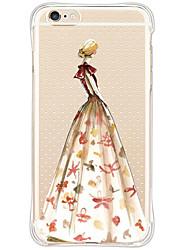 de volta Impermeável / À Prova de Impacto / Transparentes Lady sexy TPU Macio TPU&Silicone Soft Shockproof Sexy Lady Case Capa Para Apple