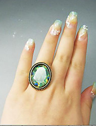 Vintage  Peacock's Feather Ring For Women Gothic Ring Vampire