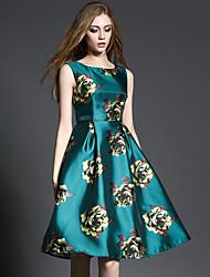 mulheres maxlindy de sair / casual / diária / partido / cocktail do vintage / street vestido sofisticado / floral chique