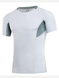 Running Sweatshirt / T-shirt / Compression Clothing Men's Short Sleeve Breathable / Quick Dry / Compression / Sweat-wicking / Stretch
