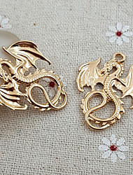20Pcs Targaryen Dragon Die-Cast Pendant Bead Charm Necklace (27*34mm)