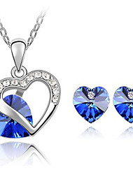 Women's Soulmate Crystal Elements Earrings Necklace Set