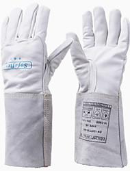 welads® 10-1005 длинный рукав белая корова зеленый промышленные сварочные перчатки