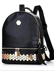 Women PU Formal Shoulder Bag Black