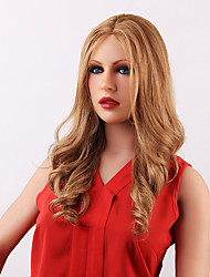 Charming Natural Long Wavy Human Hair Lace Front Wig