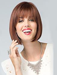 коричневый цвет косплей парики из жаропрочного синтетического оптовой короткие прямые партии Cosplay парик