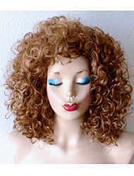 Dirty Blonde Dark Roots Wig Heavy Curly Blonde Wig Celebrity Hairstyle Wig