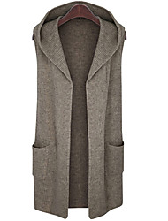 Women's Casual/Daily Simple / Street chic Long Cardigan
