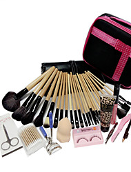 24 SET Makeup Brush Set Brush Colour Makeup Makeup Brush Sets + Professional Hairdressing Free Gift Set Make-Up Bag