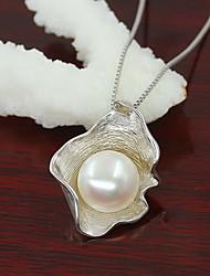Women's Pearl Shell Silver Pendant