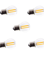 5pcs g45 4w e27 360lm dimmable à 360 degrés chaud couleur blanche led lumière filament 220v