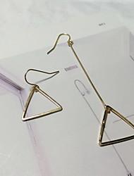 Brinco Triangular Brincos Compridos Jóias 1 par Fashion Pesta / Diário Liga Feminino Dourado / Prateado