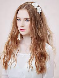 Mujer Perla Artificial Celada-Casual Bandas de cabeza 1 Pieza Blanco Flor 40