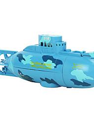 Подводные лодки CREATE TOYS 3311 1:36 Линкор RC лодка Коллекторный электромотор 4 FM Indoor toys - slowly plastic Синий / Желтый