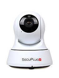 secuplug + cámara Wi-Fi IP de 1.0MP HD cubierta para el monitor de bebé con dos vías ranura de la tarjeta de audio / TF / visión nocturna
