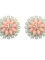 Fashion Double Flower Earrings