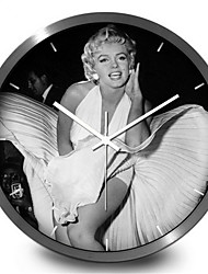Creative Personality Sexy Goddess Marilyn Monroe Home Furnishing Decorative Wall Clock