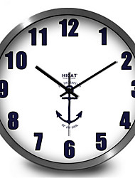 Simple Creative Naval Ensign Bedroom Digital Metal Wall Clock
