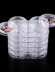 1set Nail Jewelry Removable Storage Box