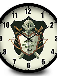The Knight Warrior Shield Wall Personality Living Room Wall Mute Electronic Quartz Wall Clock