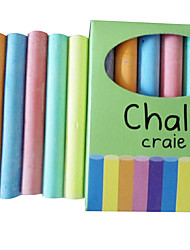 12 Environmental Free Dust Chalk for Children