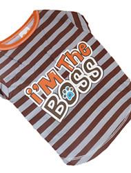Собаки Футболка Коричневый Одежда для собак Лето Зебра