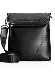 CKI Men Shouder Bags Top Grade Genuine Leather Business Bag Vintage Imported First Layer Cowhide Messenger Bags Black