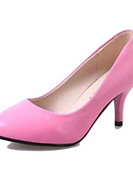 Women's Shoes PU Summer Heels Heels Casual Stiletto Heel Others Black / Pink / Red / White / Fuchsia