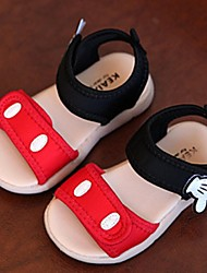Girl's Sandals Summer Comfort / Open Toe / Sandals Canvas Casual Flat Heel Hook & Loop Red